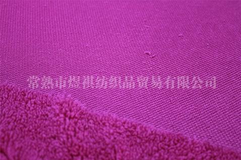 单面紫红色舒棉绒