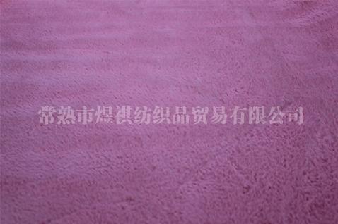 紫红色兔毛